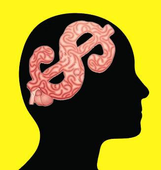 Silueta Cerebro Dólar - Fondo1