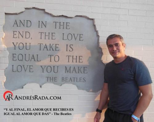 Frase de los Beatles Canción The End.